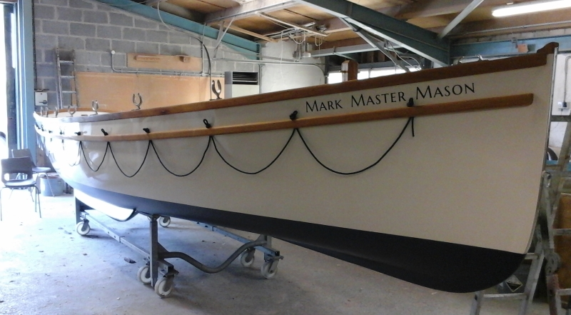 MMM with name in boat build shed June 2018