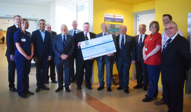 Mark Benevolent Fund cheque presentation to QA urology 2